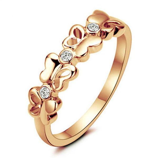 2015 New Women Fashion Jewelry 18k Gold Filled Butterfly Ring Women Daily Life Party Love Gift for Her HP062(China (Mainland))