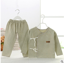 2016 HOT 2 piece newborn infant clothing set 100% cotton baby sleep dressing clothes 2 color choice newborn baby clothes BC3376(China (Mainland))