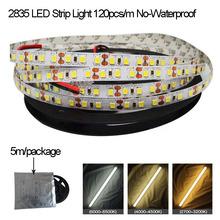 High Brightness White 2835  LED Strip Light Emitting Diode Tape 2835  DC 24V 5m/Roll  Provide Customzine  Fast  Ship(China (Mainland))