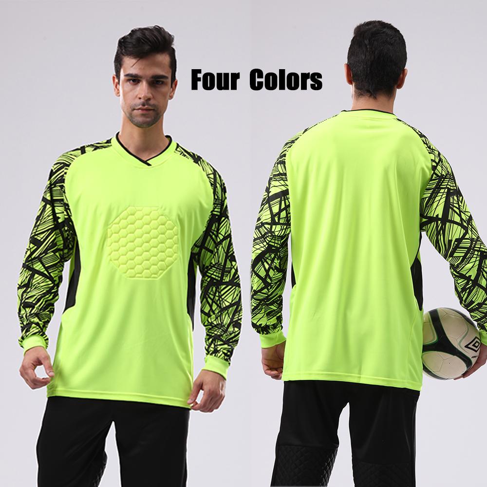 Maillot De Foot Football Pants Goalkeeper Uniform Long Sleeve Football Shirt And Short Sport Set Custom Soccer Jersey JJS025(China (Mainland))