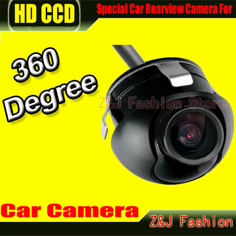 Factory Promotion CCD HD night vision 360 degree car rear view camera front camera front view side reversing backup camera(China (Mainland))