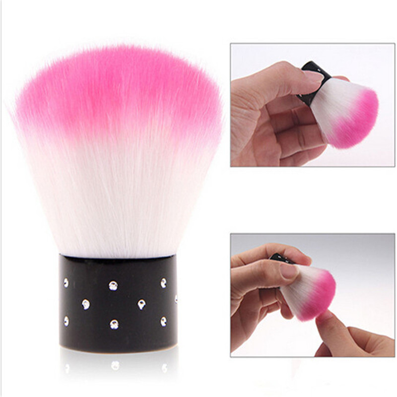 1 Piece Hot Pink Nail Brush For Acrylic & UV Gel Nail Polish Art Decor Nails Dust Cleaner Art Nail Tools(China (Mainland))