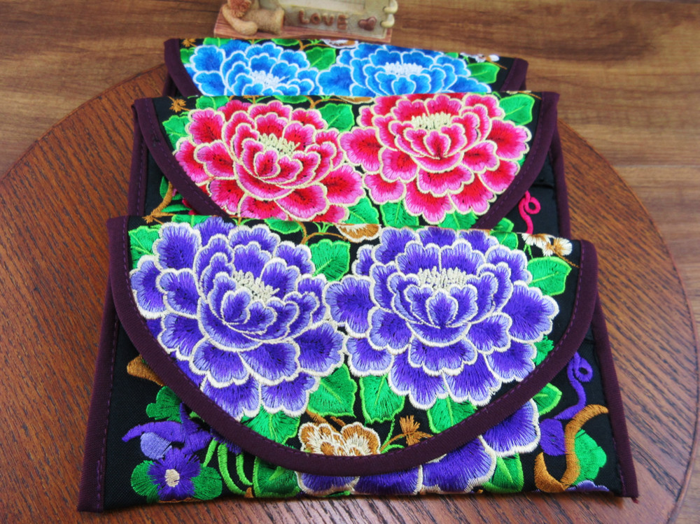 Wristlet Bag Vintage Hmong
