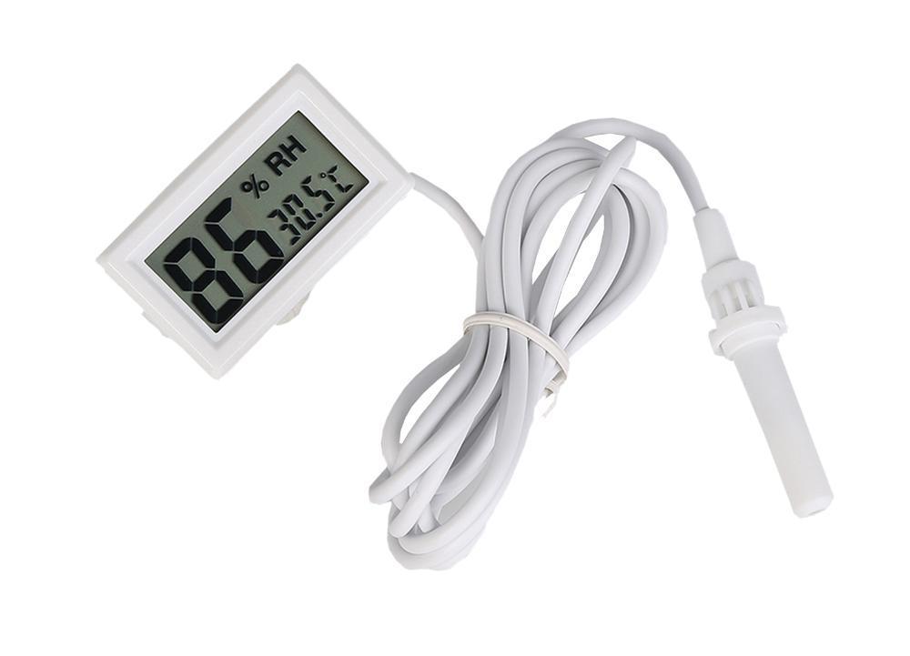 F10183 High Quality White LCD Digital Thermometer Hygrometer Probe Meter for Incubator Aquarium Reptile Greenhouse FS(China (Mainland))