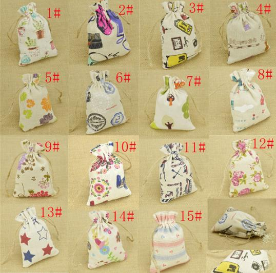 Free shipping 50pcs Burlap Bags Vintage Wedding Candy Bags Linen Gifts Pouch Favor Bag rustic wedding centerpieces wedding favor(China (Mainland))