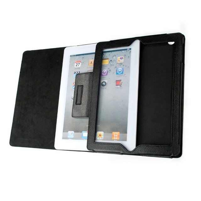 Free shipping 10pcs/lot magnetic leather stand folding Case for iPad2 iPad3 for iPad bag wholesale and retail