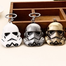 Star Wars 3D Lucasarts Storm Trooper Darth Vader Mask White Soldiers Metal Keychain Pendant Key Chain Chaveiro 084