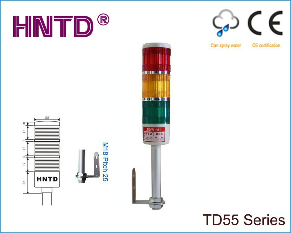 Free ship HNTD 55 L Rod type 24V often bright 3 Color with Buzzer LED Indicator Light CNC Machine tool working led Warning lamp<br><br>Aliexpress