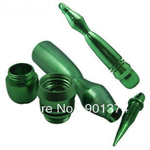green hot sale high quality ,metal pipe,smoking tools ,accessories,ss -free shipping -21pieces/lot(China (Mainland))