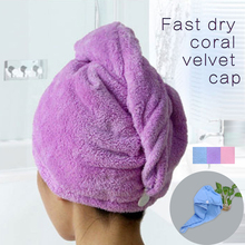 Towels Bathroom Hair Towel 1pc Womens Girls Magic Hair Drying Hat Shower Cap Salon Quick Dry Bath Microfiber Fabric(China (Mainland))