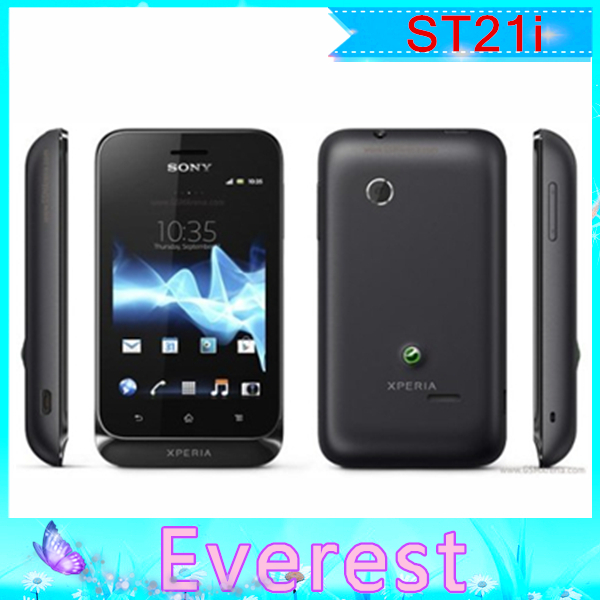 ST21 Original Unlocked Sony Xperia tipo ST21i cell phone WiFi Android GPS one year warranty FreeShipping(China (Mainland))