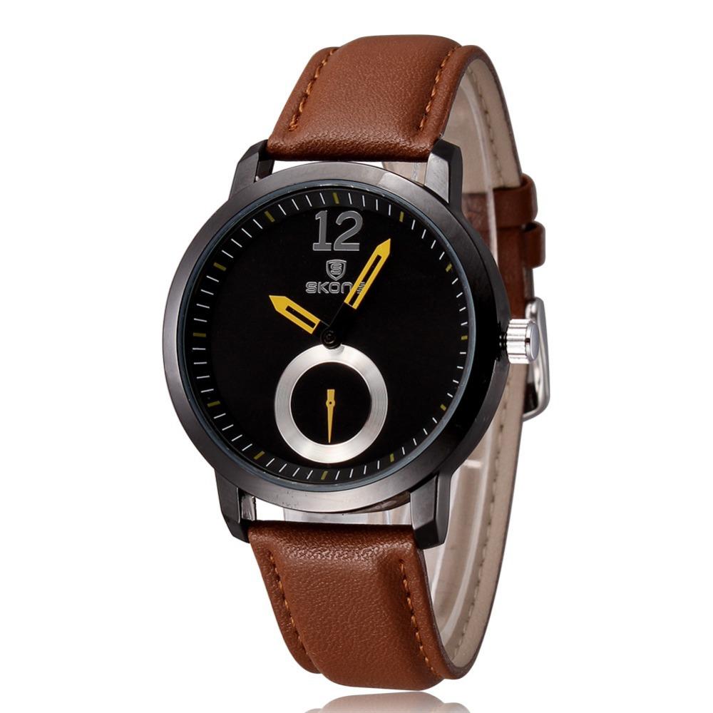 Гаджет  2015 Fashion Men Watch Luxury Brand Quartz Analog Sport Watch Leather Band Watches For Men Women Unisex Wristwatch None Часы
