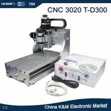 Free shipping 300W CNC 3020 T-D300 DC power spindle motor CNC engraving machine drilling router