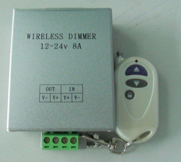 RF LED dimmer;DC12-24V input, Max 8A output