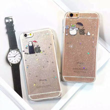 Spirited Away Phone Case Chinchilla For iphone 6s Apple 6plus Epoxy glitter transparent minimalist soft shell drop resistance