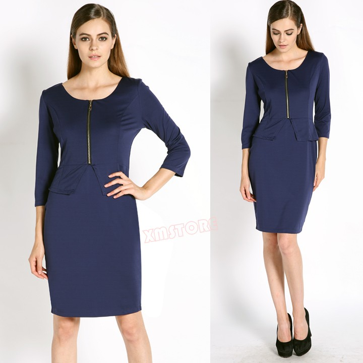 Women-Peplum-Zipper-Tunic-Elegant-Wear-To-Work-Business-Pencil-Dress-Dark-Blue.jpg