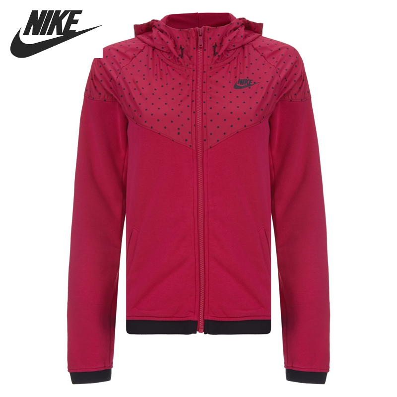 Original NIKE RU WR FINSHR OVRLY HDY Women's jackets Hooded Sportswear free shipping