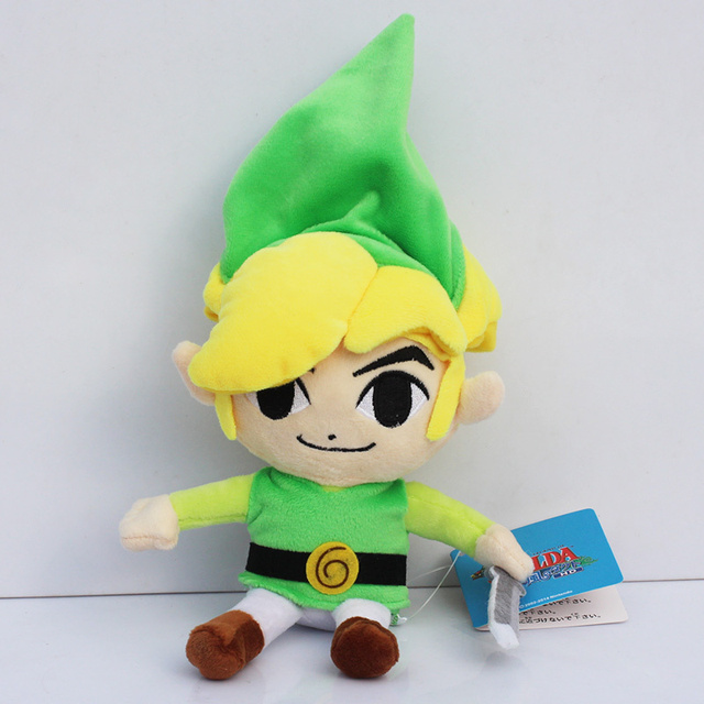 Retail 1 PC the legend of Zelda Link Plush toys boy doll Free shipping