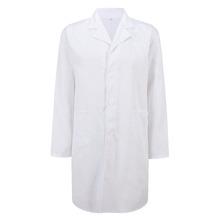 Медицинский лабораторный халат унисекс большой размеры лабораторная форма темно синие спецодежда медицинская белый(China)