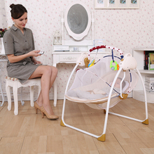 Music electric baby cradle,baby automatic cradle swing,baby electronic cradle automatic music baby cradle swing(China (Mainland))