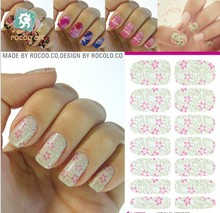 French Manicure Styling Tools Water Transfer Nail Foils Sticker Waterproof Adhesive nail foil Decals Design Decorations Patch(China (Mainland))