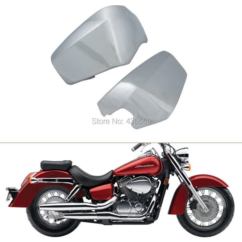 Motorcycle ABS Plastic Chrome Battery Side Fairing Covers For Honda Shadow Aero VT750C VT750CD 2004-2014<br><br>Aliexpress
