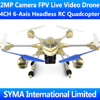 HuaJun HJ816 W609-7 2.4G 4CH 6-Axis GYRO With 2MP Camera FPV Live Video Headless CF Model RC Quadcopter UFO Ar.Drone VS WL V686G