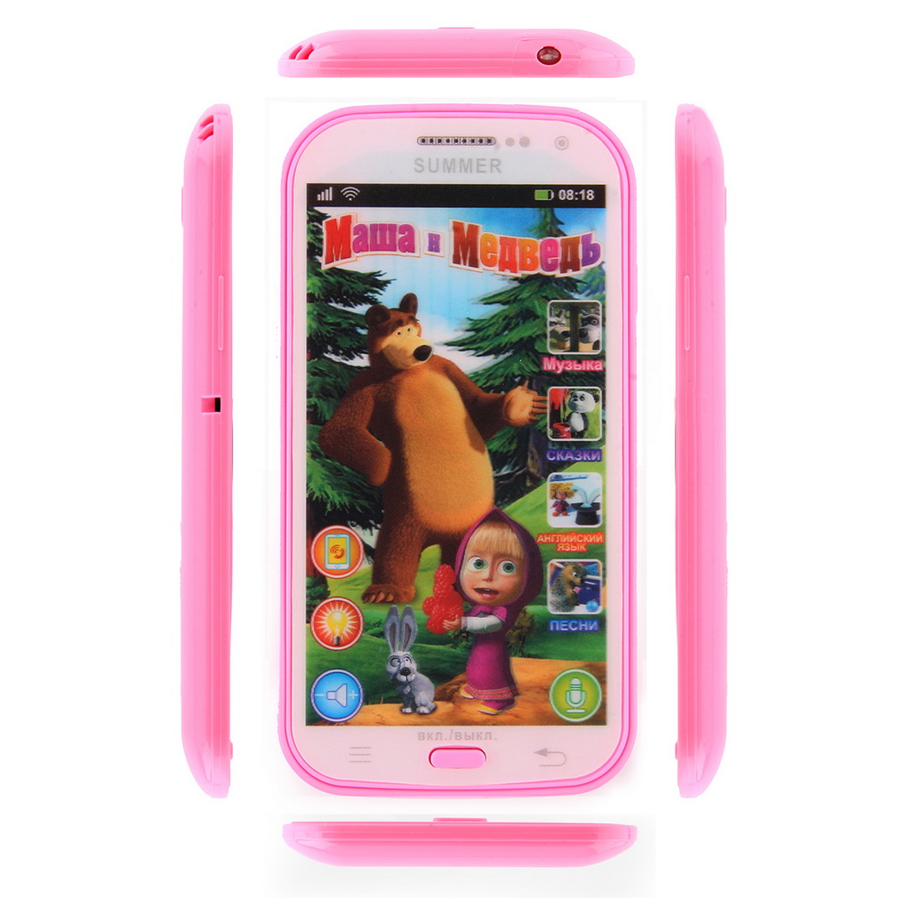 Free Shipping Baby Phone Toy Simulator Music Phone Touch Screen Children Toy Electronic Learnin Russian Language(China (Mainland))