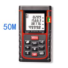 Digital portátil de mano telémetro láser 50 m área / ángulo / medición de la altura / herramienta de prueba / telémetros instrumento