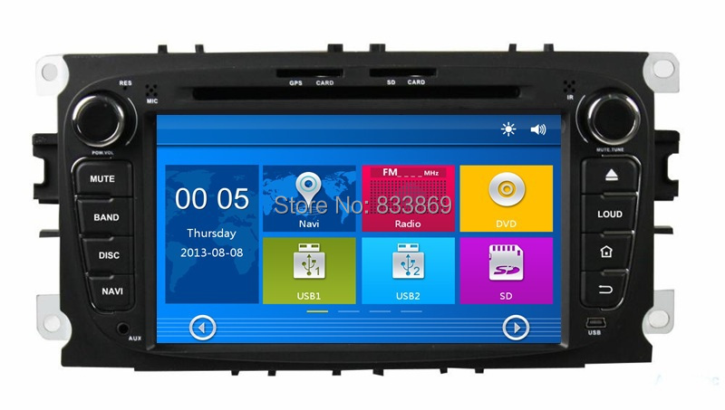 """HD 2 din 7"""" Car DVD Player for Ford Focus 2008-2010 With GPS Navigation Bluetooth IPOD TV Radio/RDS SWC AUX IN USB(China (Mainland))"""