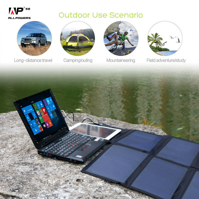 40W Solar Charger Portable Solar Panel Charger for iPhone iPad MacBook Samusng Huawei Dell HP Acer Lenovo Hp and more.(China (Mainland))