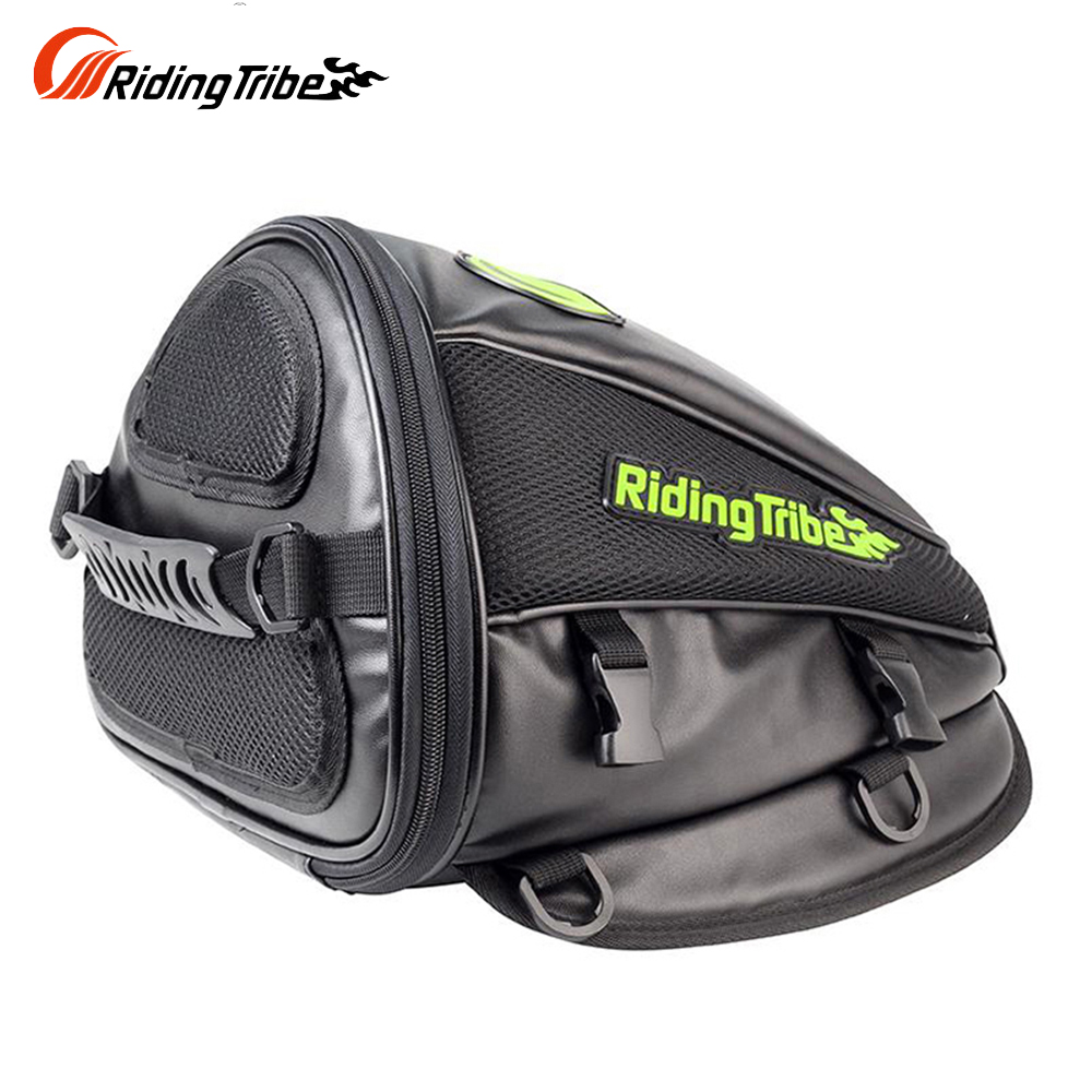 Riding Tribe Synthetic Leather Motorcycle Oil Tank Bag Motorbike Travel Tool Tail Bag Luggage Waterproof Riding Handbag Backpack(China (Mainland))
