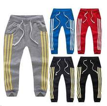 Kids Toddler Boys Girls Leisure Casual Joggers Track Pants Sport Trousers 2-7Y(China (Mainland))