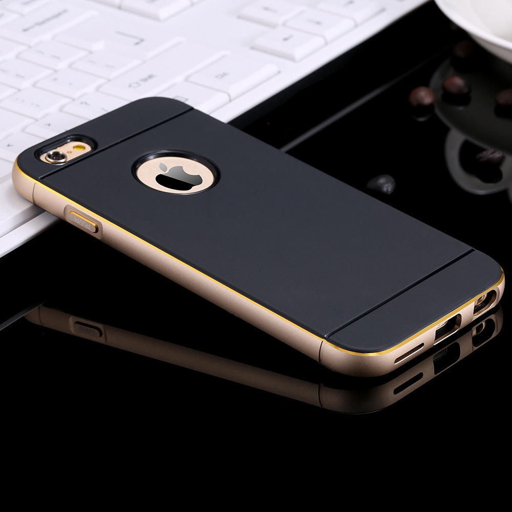 iphone 6 Plus Hot Luxury Slim Tough Brand Logo Hole Armor Case Apple iphone6 5.5 Aluminum Metal Frame Cover Deluxe - RCD Technology store