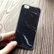 Phone Cases For iPhone 6 Case Black Marble Stone image Painted Protector Cover Mobile Phone Bags & Case For iphone 6S 4.7″ 6Plus