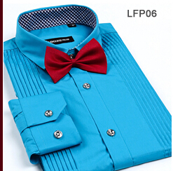 Bowknot Decorated Long Sleeve Turn-down Collar Fashion Hot Sale New Arrival Tuxedo Shirt Casual Tops (China (Mainland))