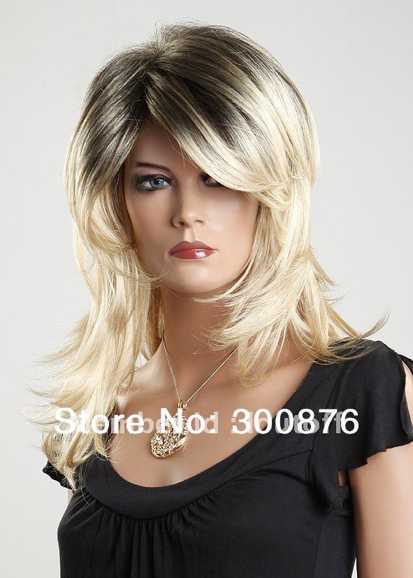 Quick delivery,High quality,100% KANEKALON,Water wave wig ,Black-+ white, retail ,colorations nami - Loutoff store