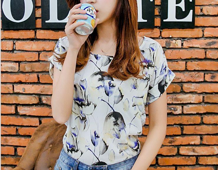 Женские блузки и Рубашки Blue Batwing Q002
