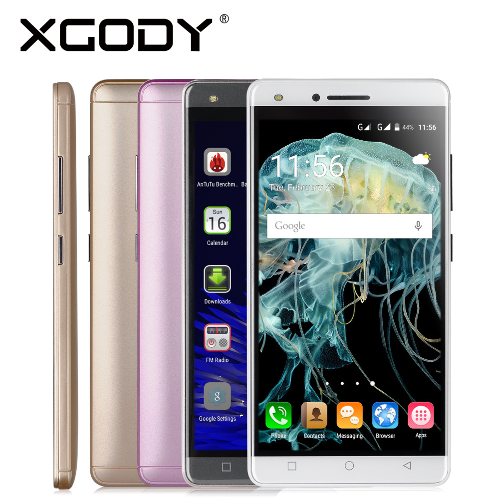 XGODY X11 5.0 inches Smartphone Android 5.1 Quad Core 512MB+8GB With 5MP Camera Mobile Phone Dual Sim Cards Phones(China (Mainland))