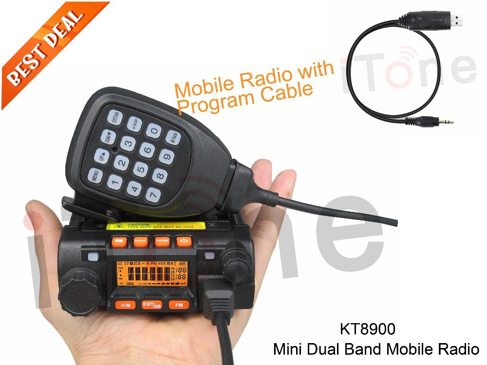Dual Band Mobile Radio QYT KT8900 Mini Mobile Car Radio VHF UHF 200 Channels Mobile FM Transmitter Dual Band Mobile Radio(China (Mainland))