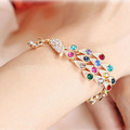 South Korea s new jewelry fashion Colorful Peacock Bracelet sparkling bracelet Z2024 Phoenix