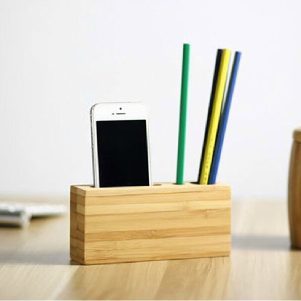 Handmade Pen Stand Designs : Original design creative handmade bamboo wood brief pen