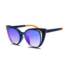 2016 New Cat eyes sunglasses for women women's sun glasses summer style brand designer Vintage retro oculos de sol feminino