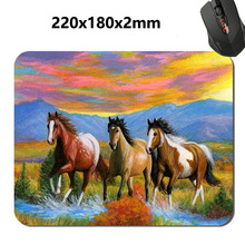 2 Kinds Running Horses Art Styles Mouse Mat Custom High Quality Non-slip and Durable Computer and Laptop Mouse Pad(China (Mainland))