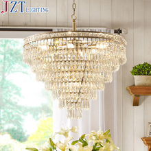 M Modern American Gloden K9 Crystal Chandelier Dia45cm/60cm 8*E14 Bulbs Dining Table Lamp Round Crystal Ceiling Lamp Chandelier(China (Mainland))