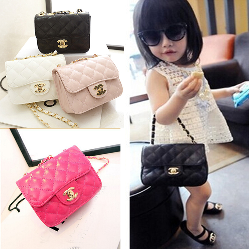 2015 Brand Design Baby Girls Accessories Kids Purse Handbags Children PU Party Bags Shoulder Bucket bags for girls 5 color(China (Mainland))