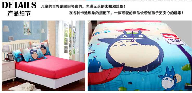 Фотография Fast Shipping TOTORO BEDDING Set Christmas Gift Girls boys Duvet cover set/Twin Queen King size bed set with fitted sheets