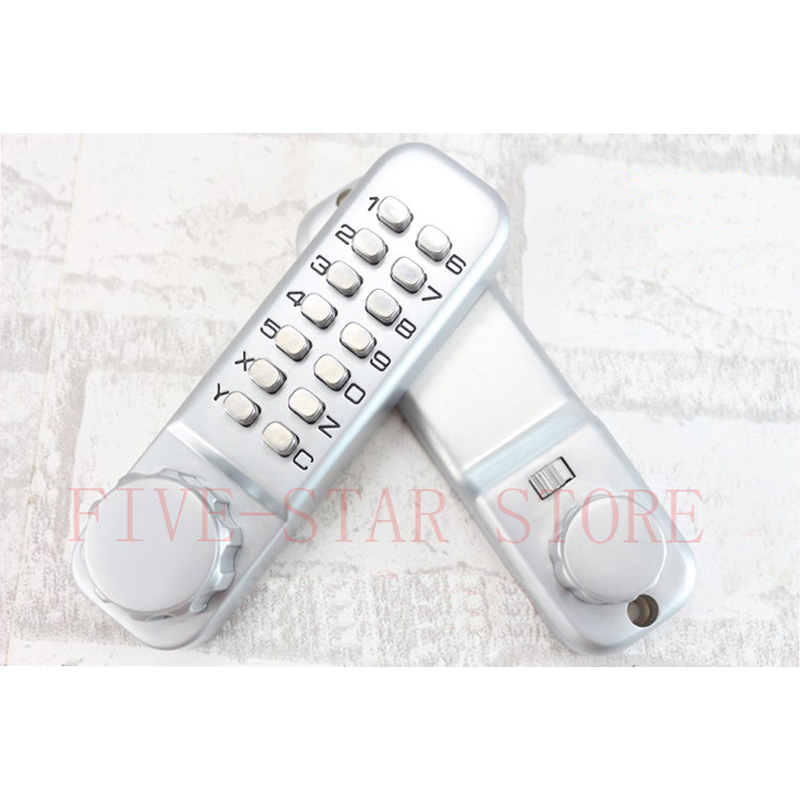 NEW turn button mechanism door lock indoor house digital code lock with deadbolt button and single latch(China (Mainland))