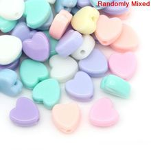 """Buy DoreenBeads Retail Acrylic Charm Beads Heart Pastel Mixed Color 8mm x 8mm (3/8""""x 3/8""""),Hole:approx 1.5mm,300PCs for $2.79 in AliExpress store"""