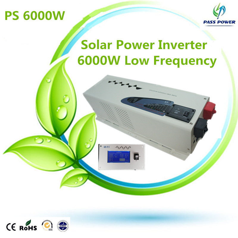 CE RoHS Standby auto 6000w DC to AC inverter low frequency inverter charger 6KW pure sine wave power inverter charger UPS(China (Mainland))